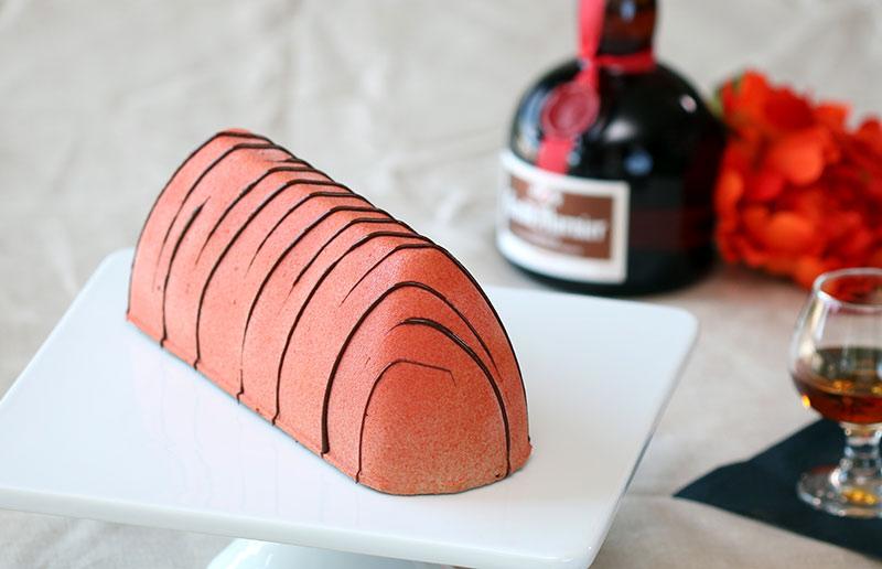 Gianduia cake Grand Marnier gelato Sicilian orange peel Hazelnut chocolate semifreddo