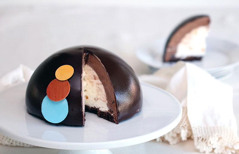 Botolino Zuccotto Cake with Dark chocolate semifreddo